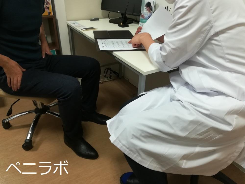 患者と医師が話をしている
