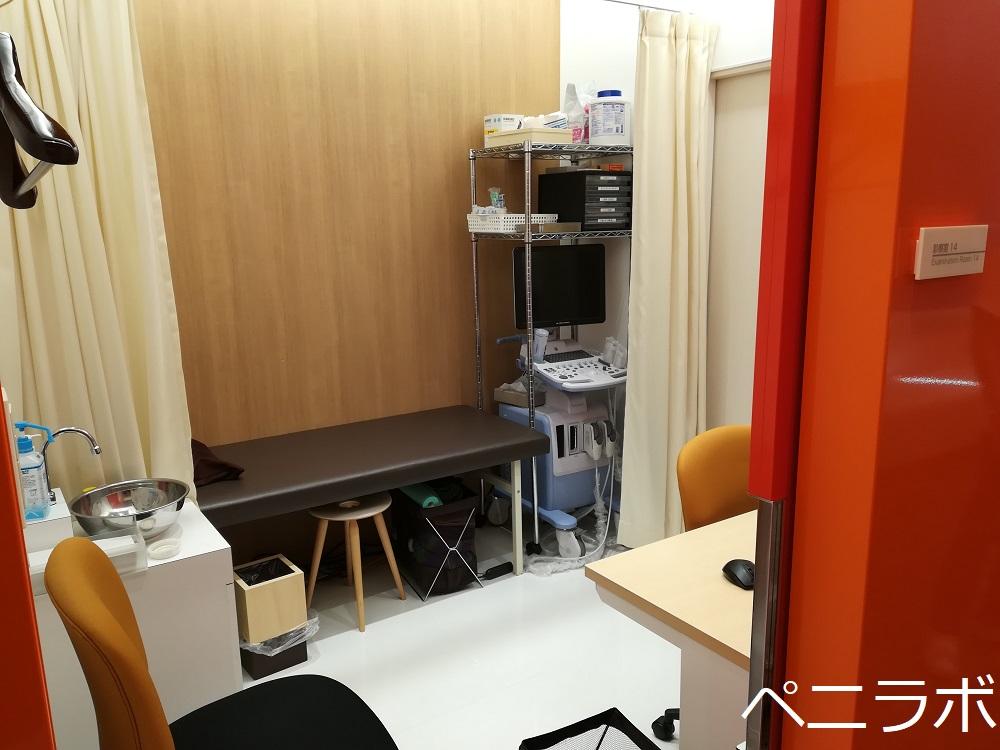 メンズヘルスクリニック東京の診察室の写真